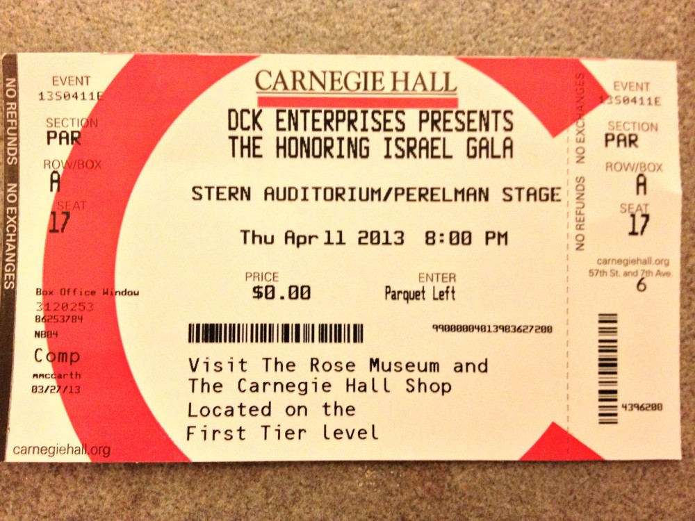Carnegie Ticket
